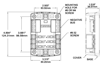 BSS Dim Drawing 5025 blue sea systems st blade fuse blocks west marine blue sea wiring diagram at arjmand.co
