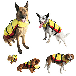 West Marine Deluxe Pet Vest, Yellow, X-Small (12-18 Chest Girth; >9 Back Length; up to 12lb. Weight)