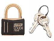 Abus Lock Black Gold Brass Padlock - Small