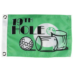 19th Hole Flag, 12X18""
