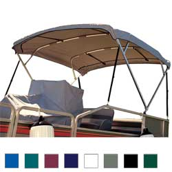 Taylor Made Square Tube Bimini Top, 96 x 102, Gray Sale $659.99 SKU: 8913550 ID# 84107 UPC# 40011143297 :