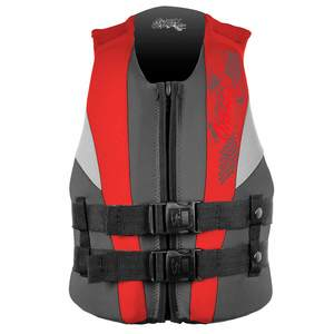 Assault Watersports Life Jacket, Youth, 50-90lb., Coal/Red/Flint