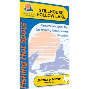 Stillhouse Hollow Lake Fishing Map