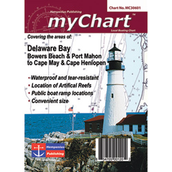 Delaware Bay Chart, Bowers Beach to Cape May & Lewes