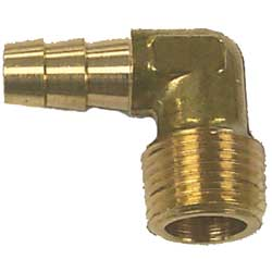 "Hose Barb - 3/8"" Barb, 3/8"" NPT Thread 90"