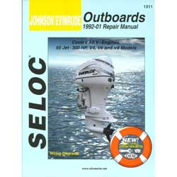 Seloc Manual for Johnson Evinrude Outboards 1992-2001