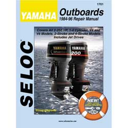 Seloc Manual for Yamaha Outboards 1984-1996