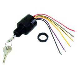 Ignition Switch, 3 Position Magneto Push to Choke, Polyester