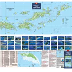 Cruising the Virgin Islands Folded Planning Map