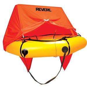 Coastal Compact Life Raft, 4-Person, Valise with Canopy