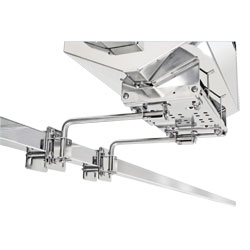 Dual Extended Side/Bulkhead or Square/Flat Rail Mount for Magma Rectangular Gas Grills