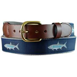 Men's Tarpon Leather Tab Belt