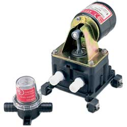 "Diaphragm Bilge Pump, 4gpm, 3/4"" Port"