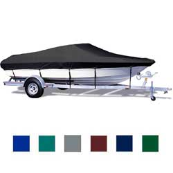 "Tournament Ski Boat Cover, I/O, Black, Hot Shot, 18'5""-19'4"", 90"" Beam"