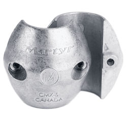 Streamlined Collar Zinc Anodes with Hex Head Screws