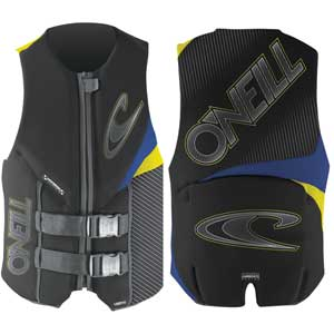 Assault Watersports Life Jackets, Black/Blue/Yellow