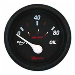 Oil Pressure Gauge - Professional Red - 80 PSI