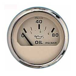 Oil Pressure Gauge - Euro Beige Stainless Steel