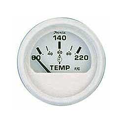 Cylinder Head Temperature Gauge,  Dress White, with Sender