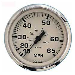 Speedometers- Euro Beige Stainless Steel