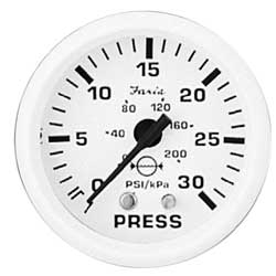 Water Pressure Gauges - Dress White