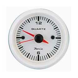 Quartz Analog Clock - Dress White