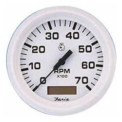 Tachometer/Hourmeters - Dress White