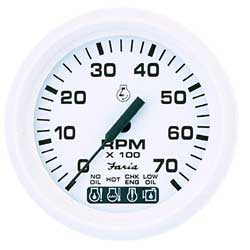 Tachometer/OMC System Check, Dress White