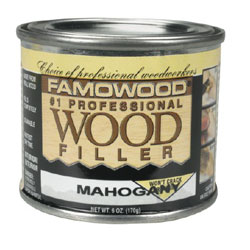 Wood Putty - Mahogany , 6 OZ