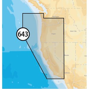 Platinum+ Charts  Lower 48 States and Hawaii (Micro SD) - California and Oregon, MSD/643P+