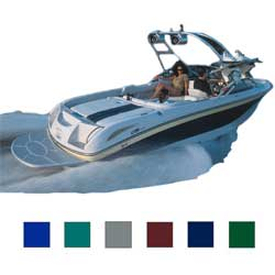 "Euro Ski Boat w/Tower Cover, I/O, Gray, Hot Shot, 17'5""-18'4"", 96"" Beam"