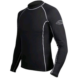 Men's Long-Sleeve, Low-Collar Thermal Top