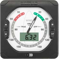 IS20 Wind Display Only with 1' SimNet Cable
