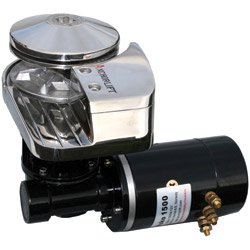 Anchorlift Low-Profile Windlass for Boats 42'-65', 2640lb. Max. Pull, 5/8 Line Dia., 3/8 HT G4 Chain Dia., 12V/115A Voltage/Draw, Speed Up to 110 ft./min.