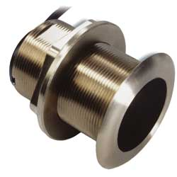 B60 Bronze 20° Tilt Thru-hull 50/200kHz Transducer