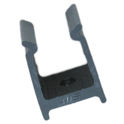 Marine East Square Tube Clip, 1-1/4, Black