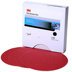 "6"" Red Abrasive Stikit™ Disc"