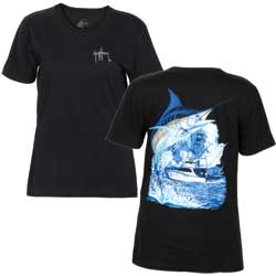 Women's Marlin Boat Tee