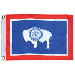 "Wyoming State Flag, 12"" x 18"""