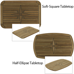 Nautic Star Teak Tabletops