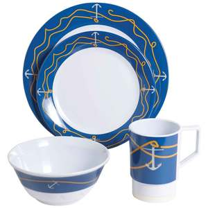 Anchorline 16 Piece Dinnerware Set