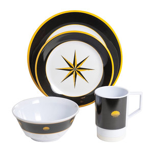 Black Compass 16 Piece Dinnerware Set