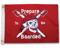 "Prepare To Be Boarded Pirate Flag, 24"" x 36"""