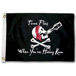 "Time Flies When You're Having Rum Flag, 35""x24"""