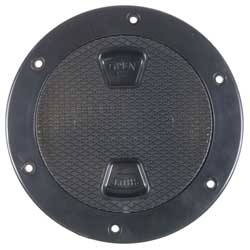 "Screw-in Deck Plate, 4"", Smooth, Black"