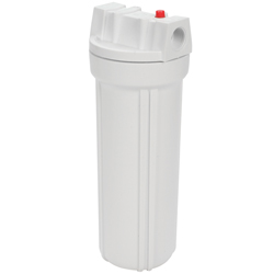 "Water Filter, White Sump/White Top, 4 13/16"" Dia., 12 1/2""High"