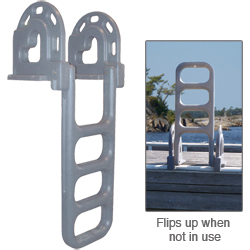 Dock Edge Polyethylene Flip Up Dock Ladder West Marine