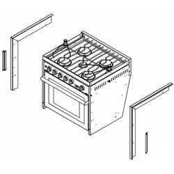 Three- & Four-Burner Gimbaled Propane Range Trim Kit