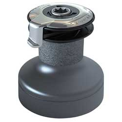 #50 Two-Speed Self-Tailing Winch, Gray Aluminum