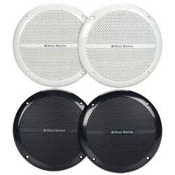 "6.5"" Round Flush-Mount Speakers, Black, 7.1"" Mounting Dia., 5.4"" Dia. x 2.5""D Cutout Size"